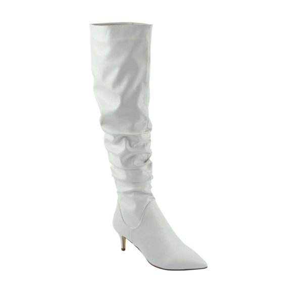 unilady Shoes - White Pointy Toe Kitten Heeled Boot~New Arrival